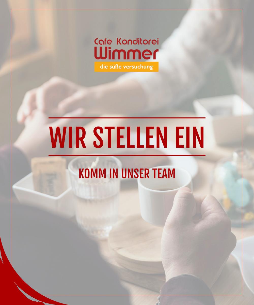 Jobangebot | Cafe Konditorei Wimmer in Timelkam